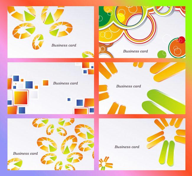 色彩创意名片背景模板