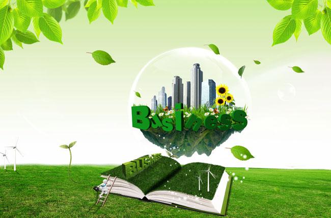 绿色宣传画手绘
