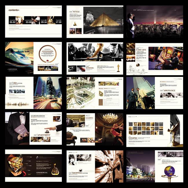 奢华房地产画册设计psd素材图片