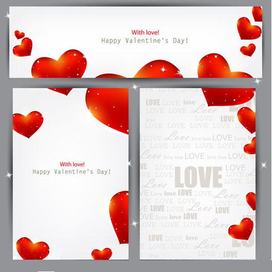 欧式情人节卡片背景矢量素材