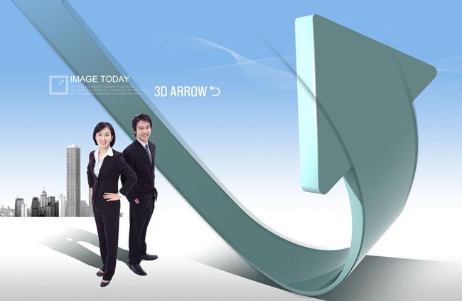 设计海报模板企业文化职业人物职业男性商务男人商务美女职业女性箭头