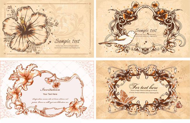 古典怀旧欧式花纹边框矢量素材