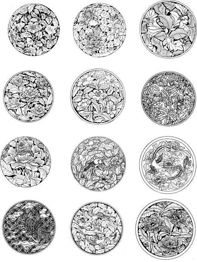 插画花纹图案矢量素材 - 爱图网设计图片素材下载