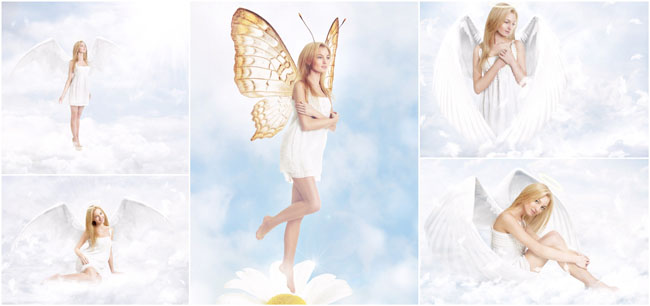 美女 创意 天使/翅膀的天使图片素材