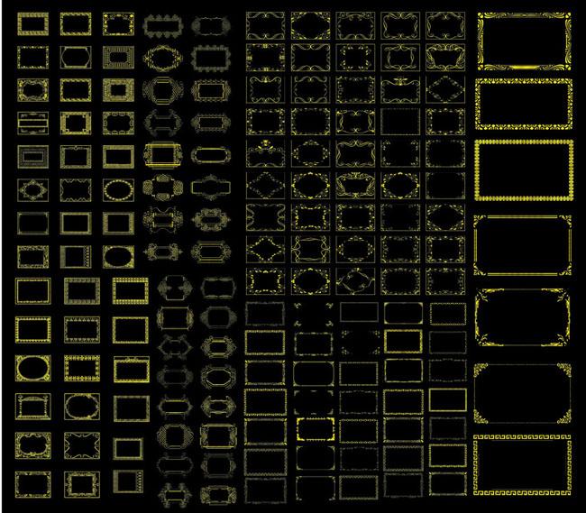 中国古典花边设计矢量素材 精美装饰花边边框矢量素材 中式花边边框