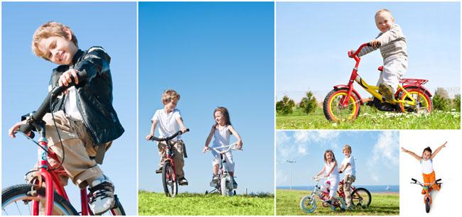 小孩骑自行车图片素材 - 爱图网设计图片素材下载