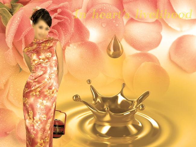 传统中国风景色psd素材