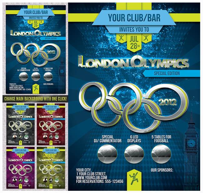 伦敦奥运会海报设计psd素材