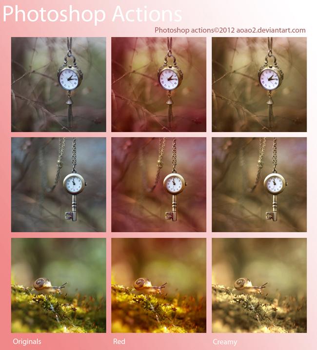 照片转手绘效果ps动作素材  关键字: variouspsactions钟表蜗牛梦幻