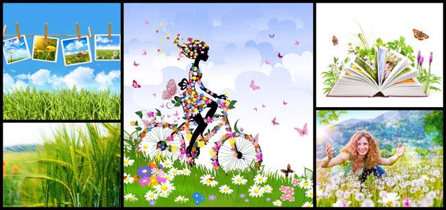 春天美丽景色的手抄报