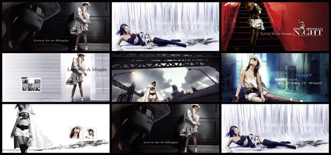 中国风食堂文化展板psd素材 创意广告展板设计psd素材 清爽展板背景