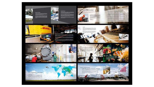 物流宣传画册模板; 灰色现代多图企业宣传册;