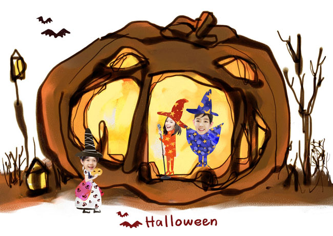 卡通魔法人物PSD素材图片