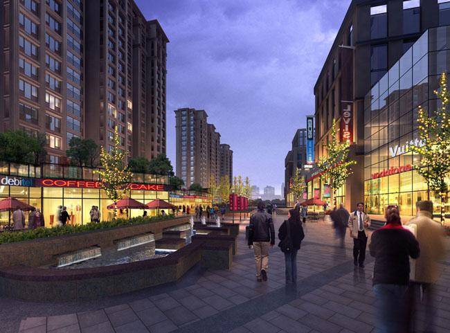 商业步行街景观设计psd素材