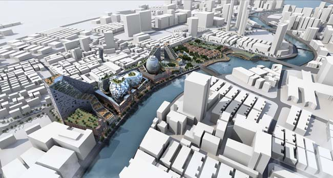 城市规划效果图psd素材
