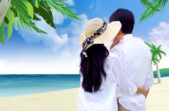 关键字: 海滩风景卡通背景大海旅游休闲度假夏日旅行度假情侣蜜月