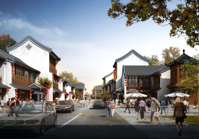景观环境设计当代建筑文化建筑园林景观街道文化人物汽车psd分层素材