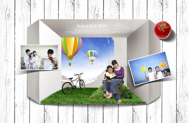 设计素材照片墙PSD家庭-爱图网休闲图片素材女服设计图图片