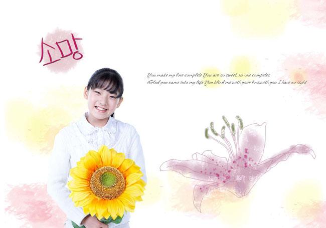 快乐家庭摄影人物psd素材 躺着的韩国男孩psd素材  关键字: 可爱女孩