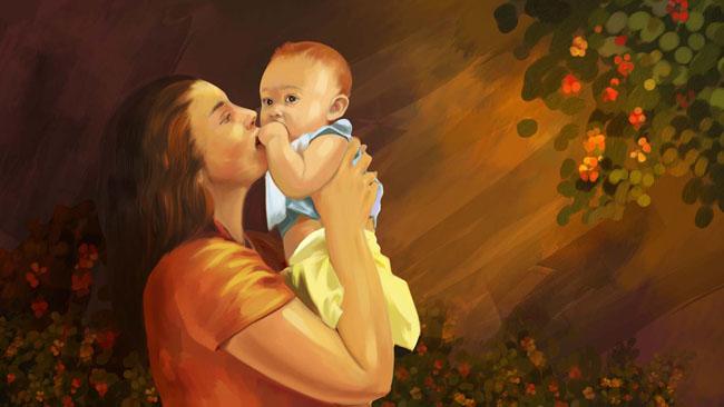 婴儿和妇女素材