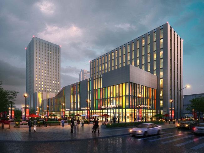 关键字: 商场商场建筑街道商业街夜景效果图环艺设计建筑设计建筑
