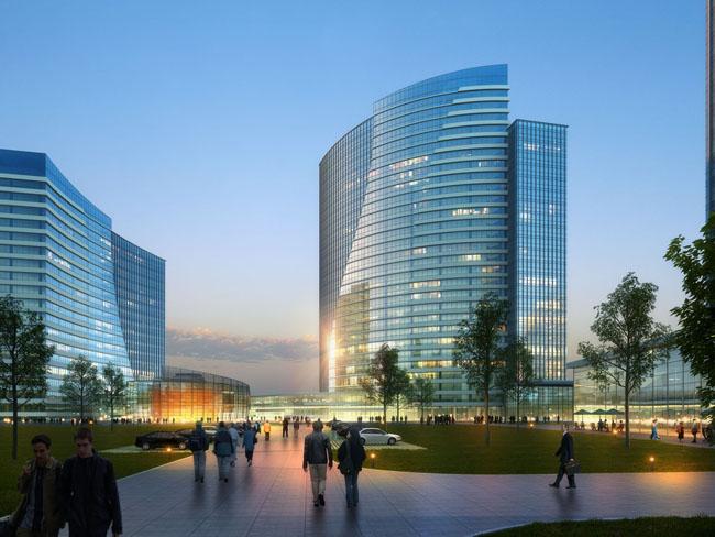 国外商业大厦建筑景观psd素材 - 爱图网设计图片素材下载