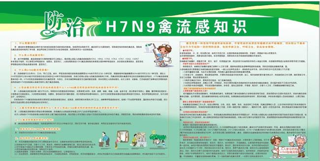 H7N9禽流感知识海报设计矢量素材图片