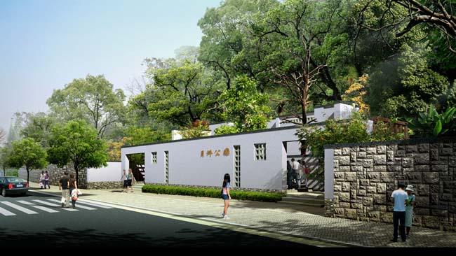 园林别墅景观psd素材 公园绿化湖水景观psd素材 园林河流景观设计psd