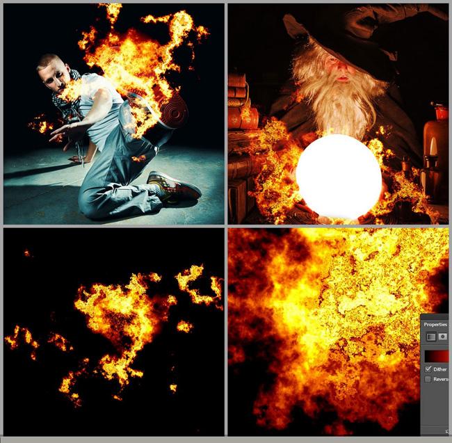超酷火焰ps笔刷素材 爱图网设计图片素材下
