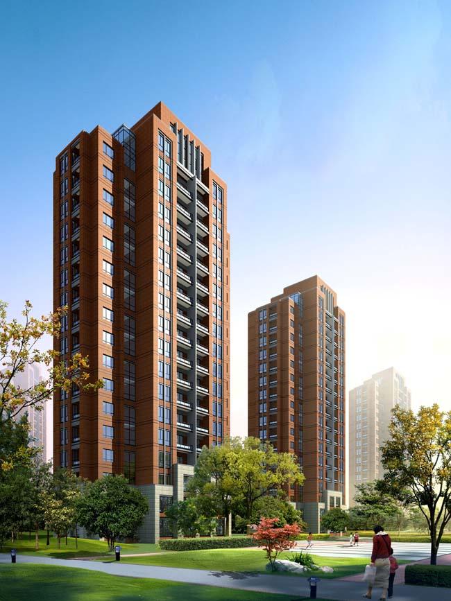 设计psd素材 欧式建筑花园景观psd素材 河道环境景观psd素材 优雅楼房