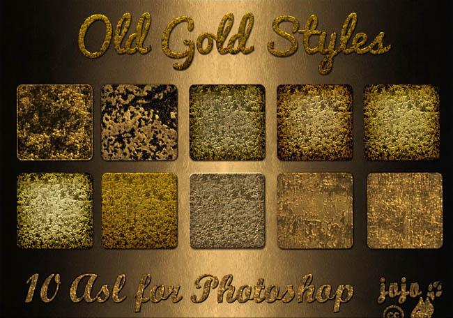 黃金紋理ps樣式素材
