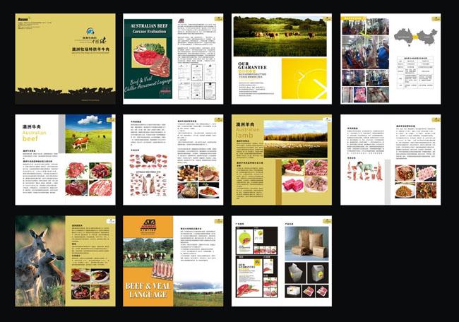 澳洲牛肉画册设计矢量素材