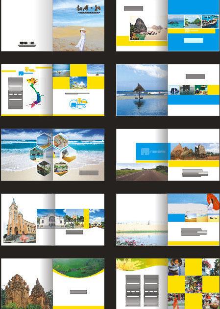 旅游公司广告画册矢量素材